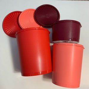 Tupperware storage canisters set of three new